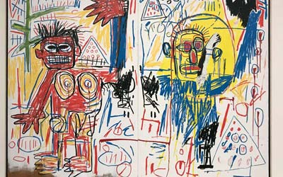 Basquiat: Duality, 1982 a painting of