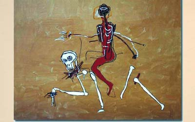 Basquiat: Riding on Death, 1988 (following
