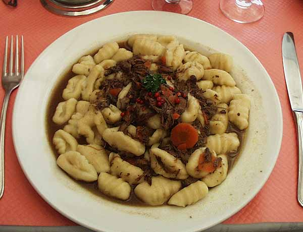 ... Provencal beef stew. Gnocchi is a small Niçoise dumpling made from