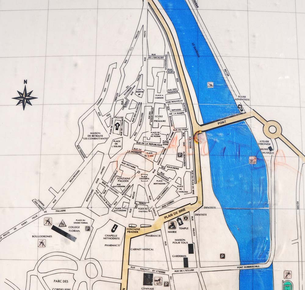 Anduze Town Detail Map