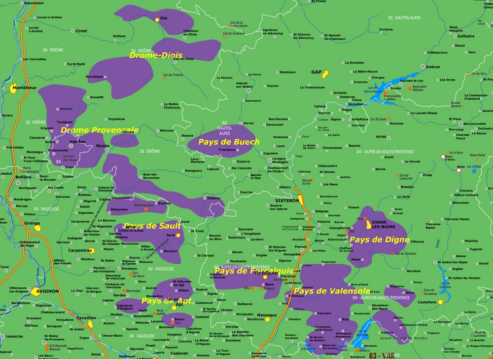 Provencal Lavender Fields Map