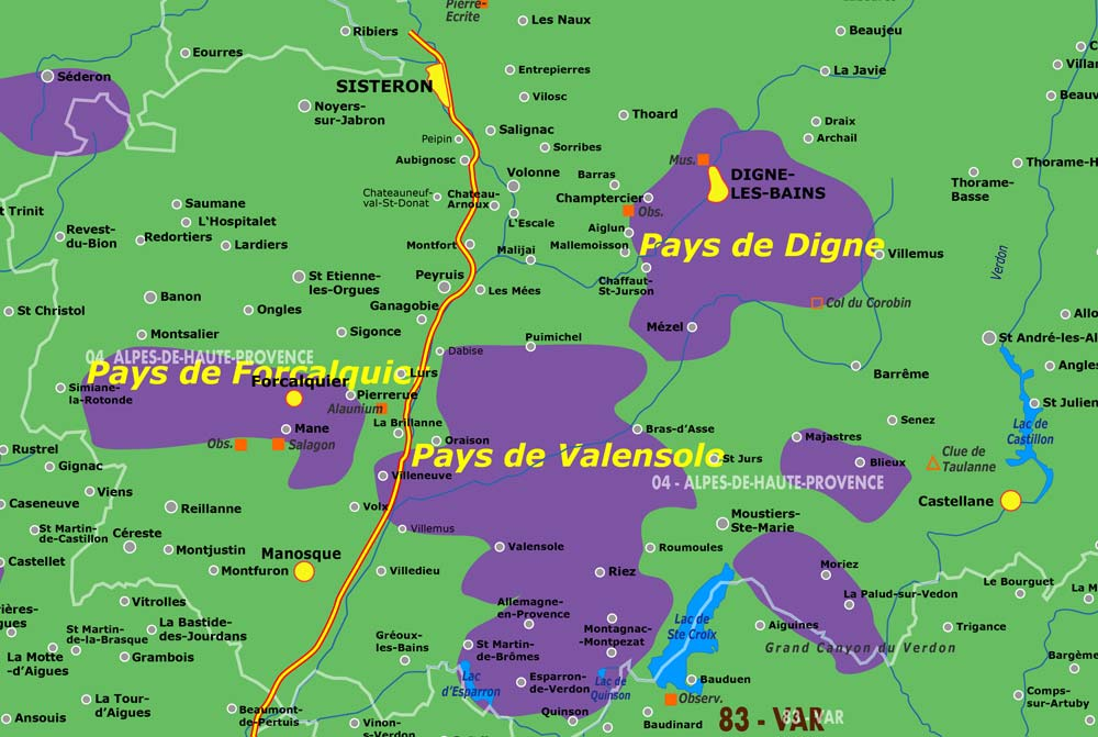 Lavender Valensole Map