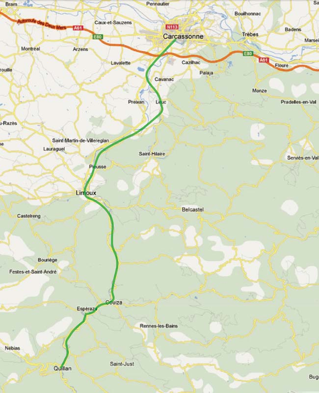 Limoux France Map.Carcassonne Limoux Quillan Train Provence Travel Information