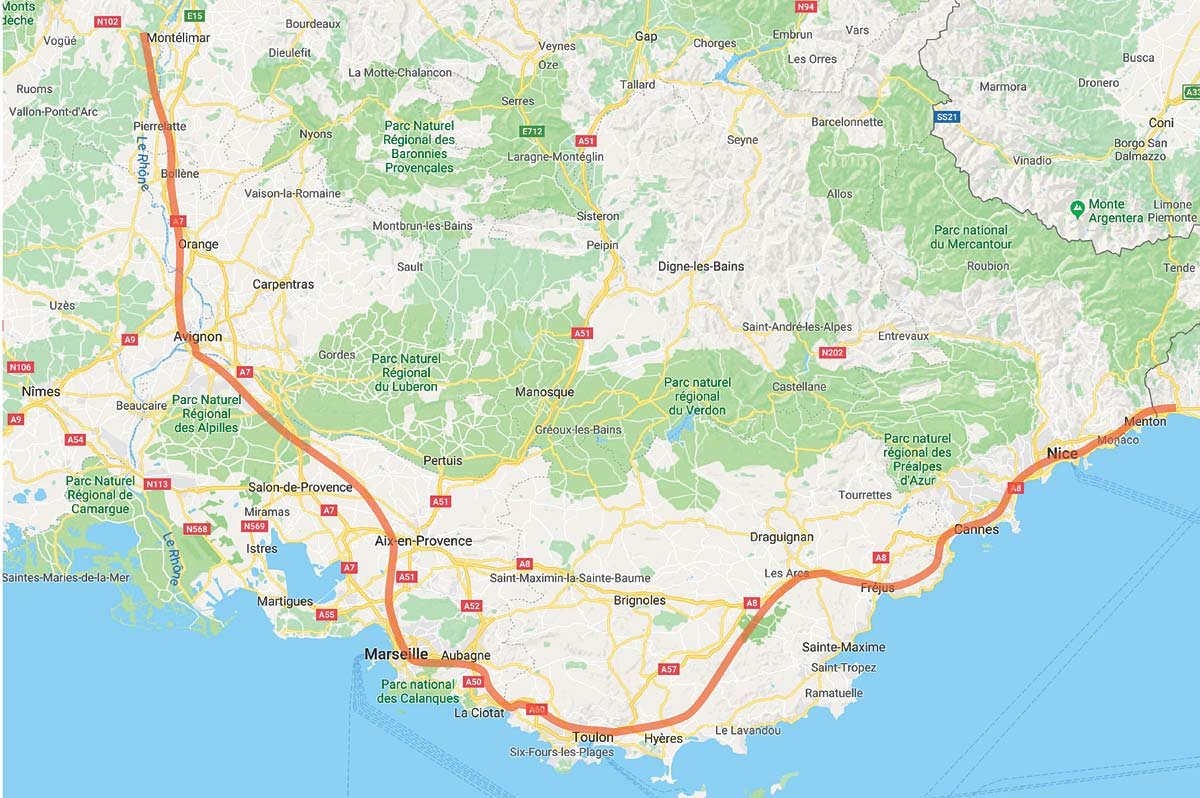 Map Of Trains In France.Provence France Rail Map By Provence Beyond