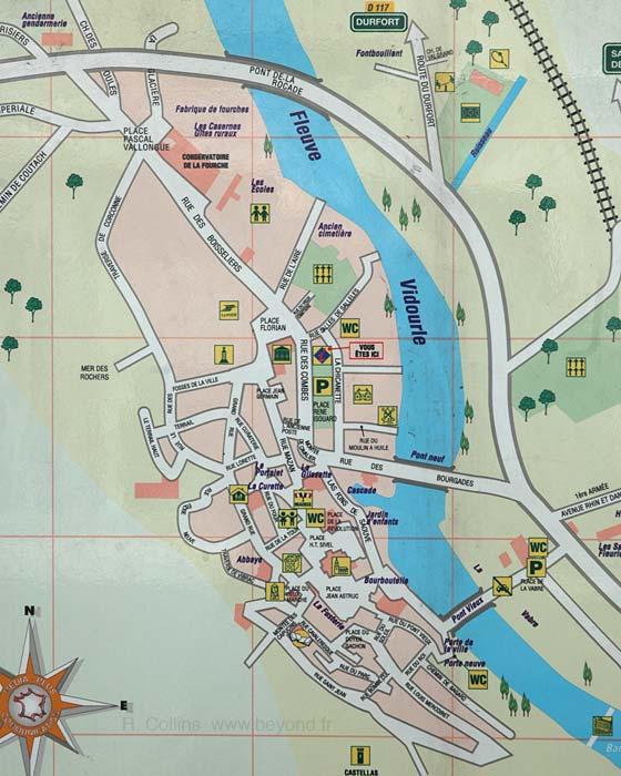 Sauve Map, by Provence Beyond