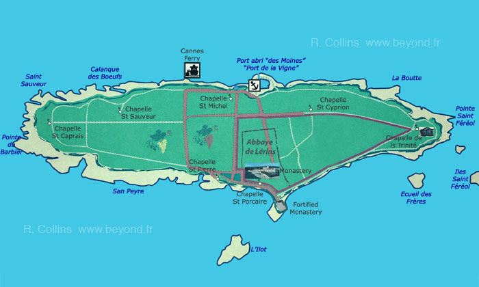 Saint Honoret island map