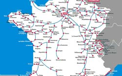 Map Of France Rail System.Tgv High Speed Train Provence Travel Information And Tips By
