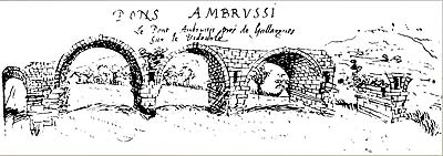 Line drawing dated 1623 of the