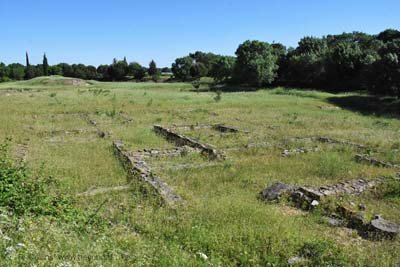 Roman Roadhouse ruins at the Ambrussum