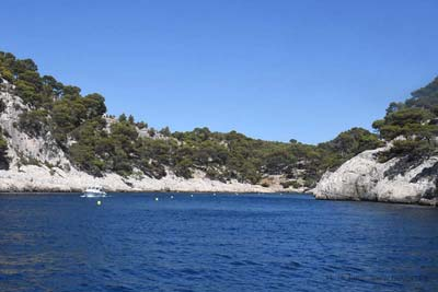 Port Pin calanque with its small