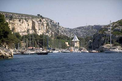 Port-Miou calanque inlet and its