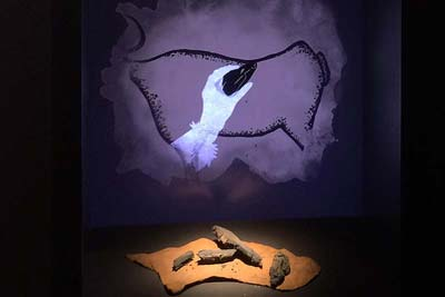 Chauvet cave art charcoal method, with