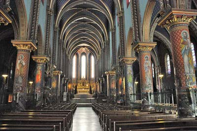 Interior of the Basilica Saint-Michel
