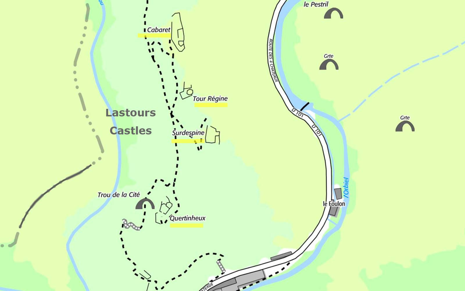 Lastours Castles photo lastours-castles-map002bb.jpg