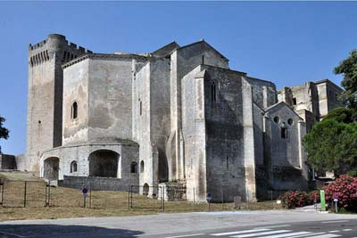 Montmajour Abbey church viewed from the