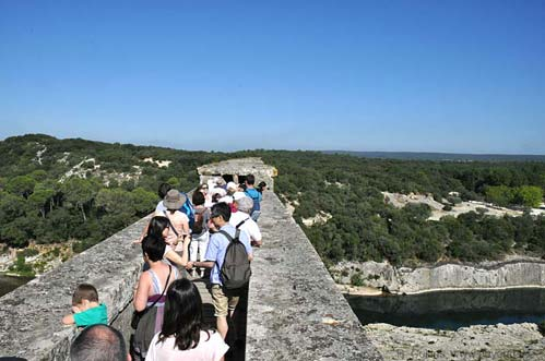 Visitors in the top-level aqueduct