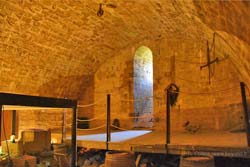 The lower room of Puivert Castle