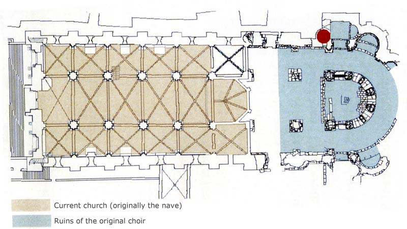 Plan of the Saint Gilles Abbey