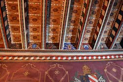 Decorated ceiling of Abbot's appartment in