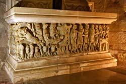 Finely sculpted sarcophagus in the St