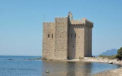 Old fortified monastery on Saint Honorat