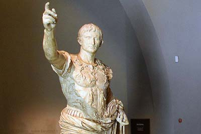 Statue of Augustus in the museum