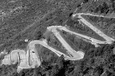 Road Travel switchbacks