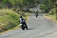 Motorcyclists on a country road