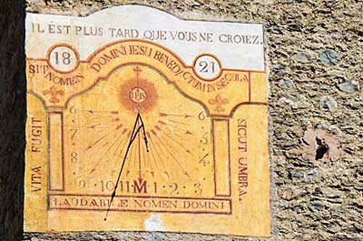 This 19th-century sundial on the