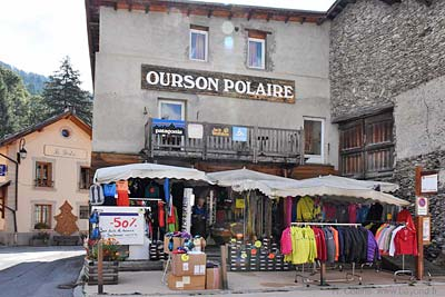 A sports-clothing shop in Abriès
