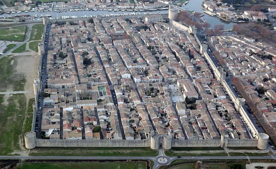 Aigues-Mortes aerial view, from Google Earth
