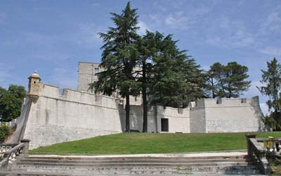 Rebuilt rampart walls of the Vauban