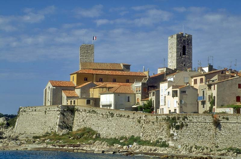 Old Antibes and the ramparts, viewed