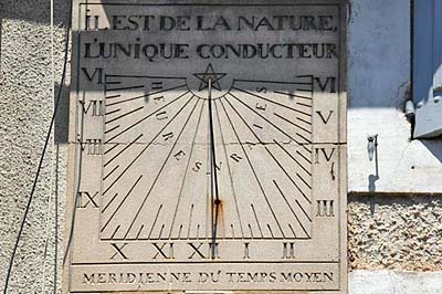 Top part of the 1834 sundial