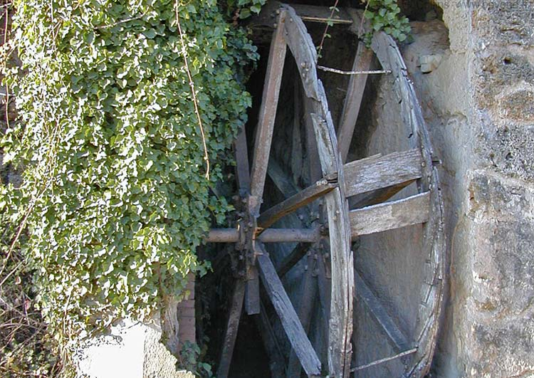 Waterwheel of an ancient oil mill