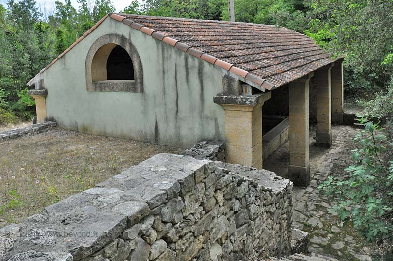 The Arpaillargues lavoir (wash house), about