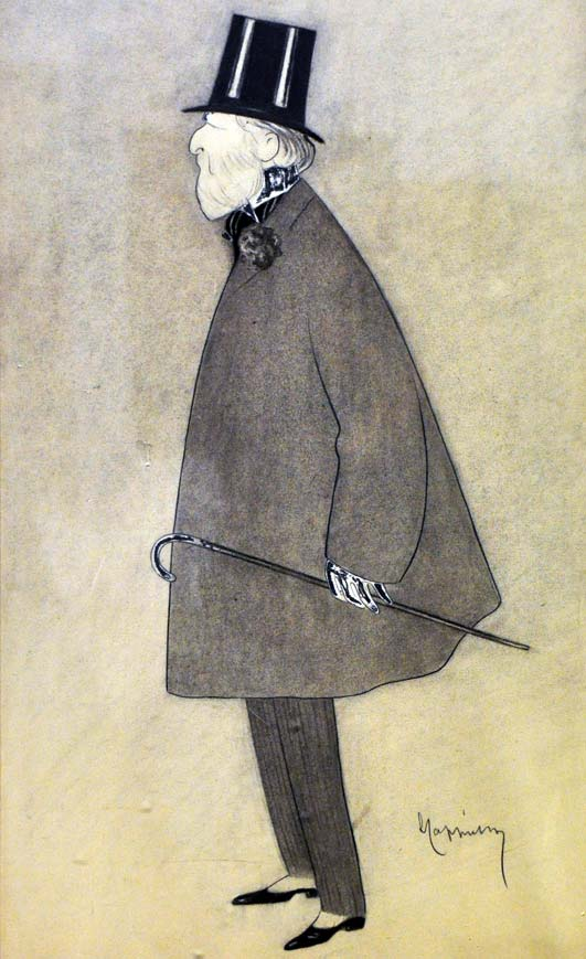Caricature of Jacques Doucet by Leonetto