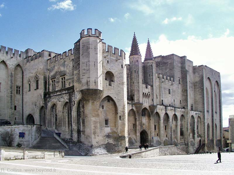 The Avignon Popes Palace, right side