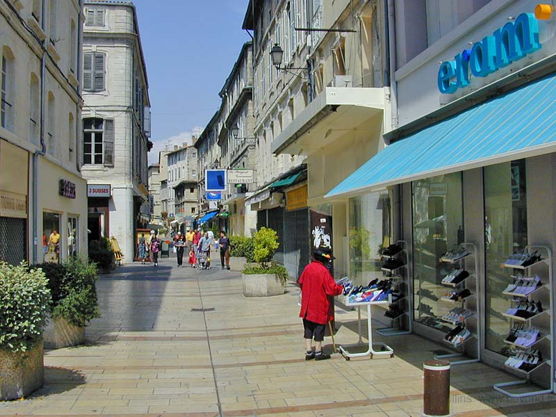 One of the pedestrian shopping streets