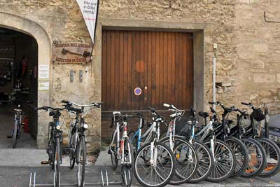 A couple of bicycle rental shops