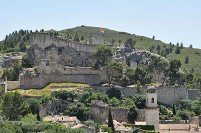 Boulbon fortress and bell tower of