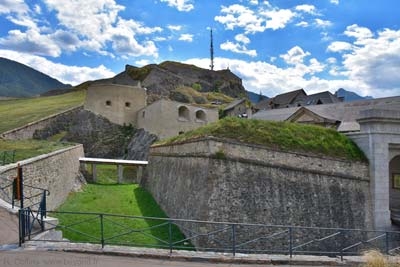 The Fort du Chateau fortress sits