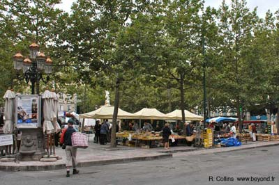 Market place at Place Carnot in
