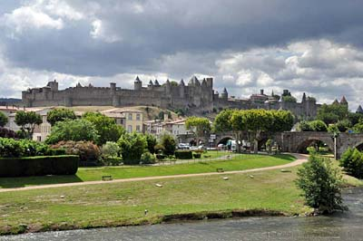 Carcassonne Walled Fortress viewed from the
