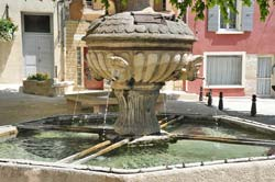 Caromb's oldest fountain, the 1359 Fontain