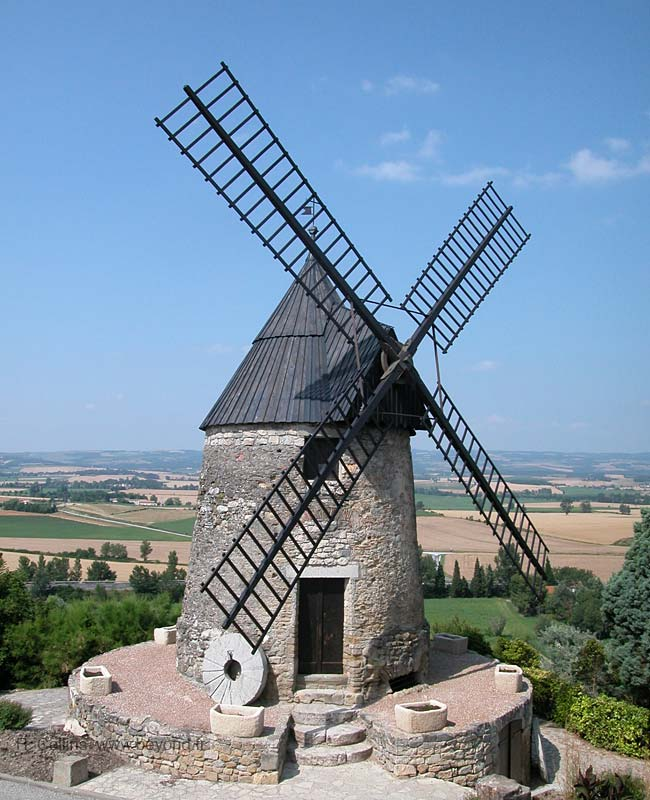 Ancient windmill Moulin de Cugarel on