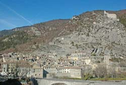 Entrevaux walled town and citadel