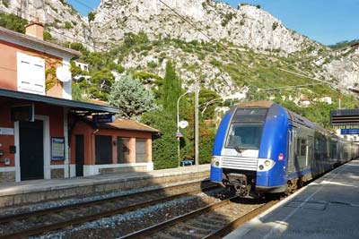 The Eze train station at the