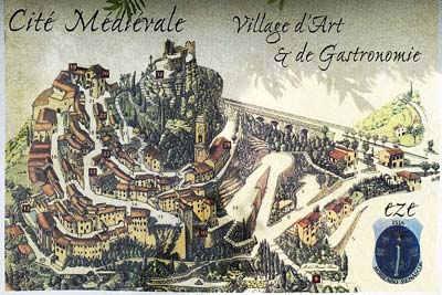The beautifully artistic village map at