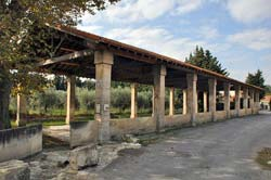 The covered lavoir of Fontvieille, built